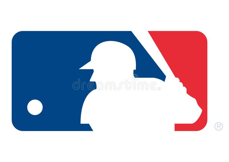 MLB-Embleem stock illustratie
