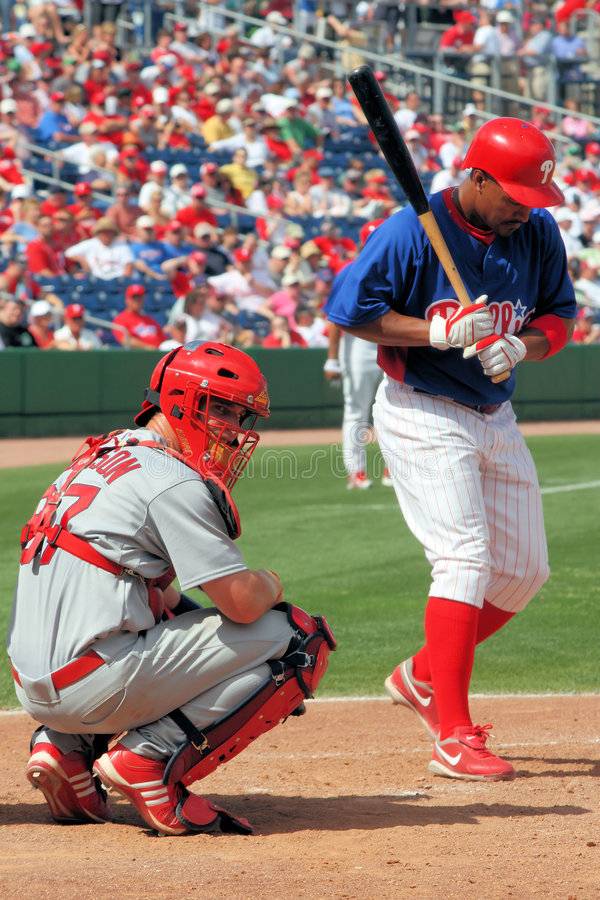 MLB Philadelphia Phillies vs St Louis Cardinals stock photos