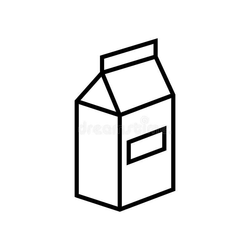 Mleka lub soku paczki linii ikona ilustracji