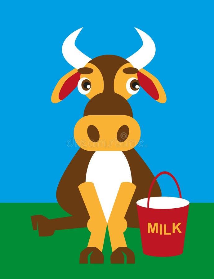 mleko krowie royalty ilustracja