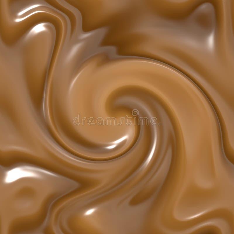 mleko się stopił, ale czekolada royalty ilustracja