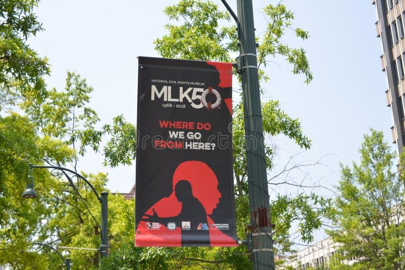 MLK-Hulde Memphis, Tennessee stock afbeeldingen