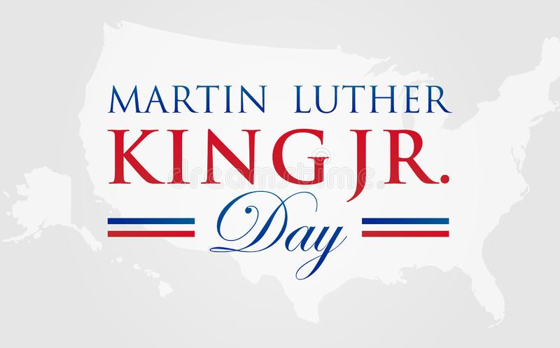 MLK Martin Luther King Jr. Day Vector Illustration Background with American Map vector illustration
