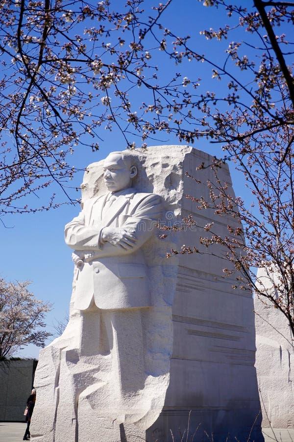 MLK-Monument in de lente stock afbeelding