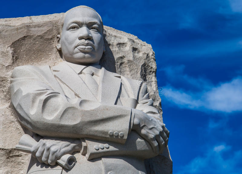 MLK-Statue lizenzfreies stockfoto