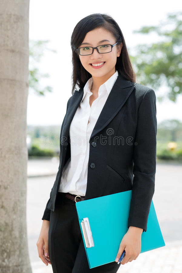 Mlle Confident photo stock