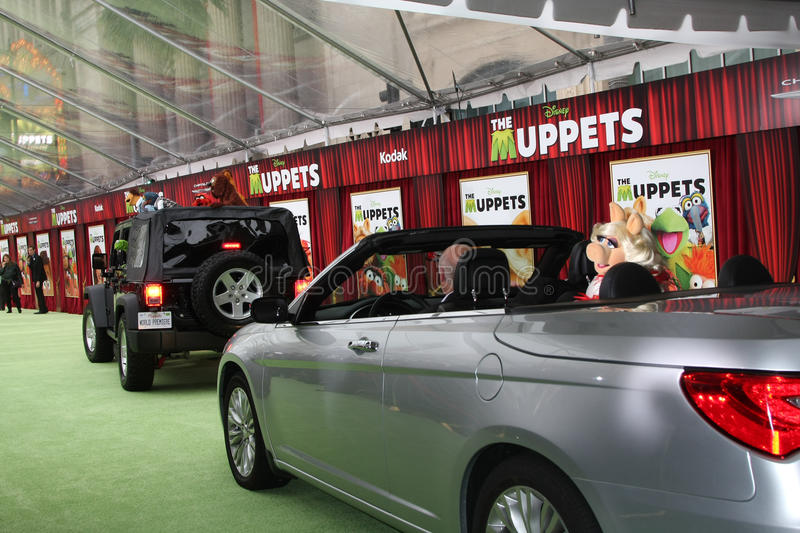 Mlle Piggy, les Muppets image stock