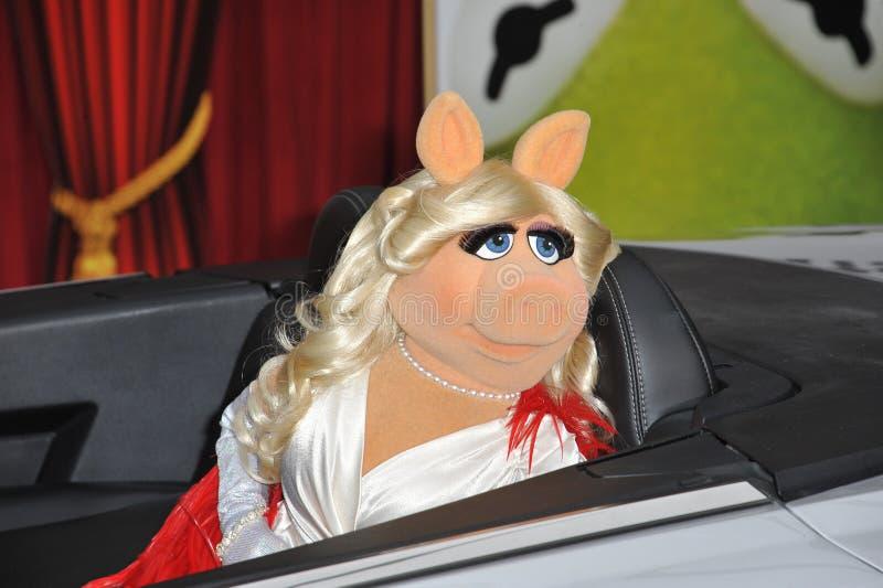 Mlle Piggy, les Muppets photos stock