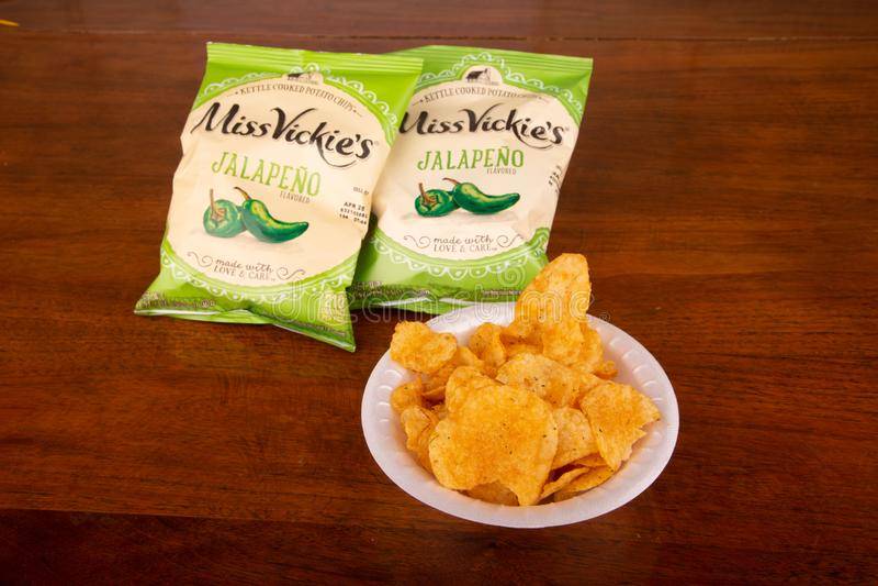 Mlle Vickies Potato Chips photos libres de droits