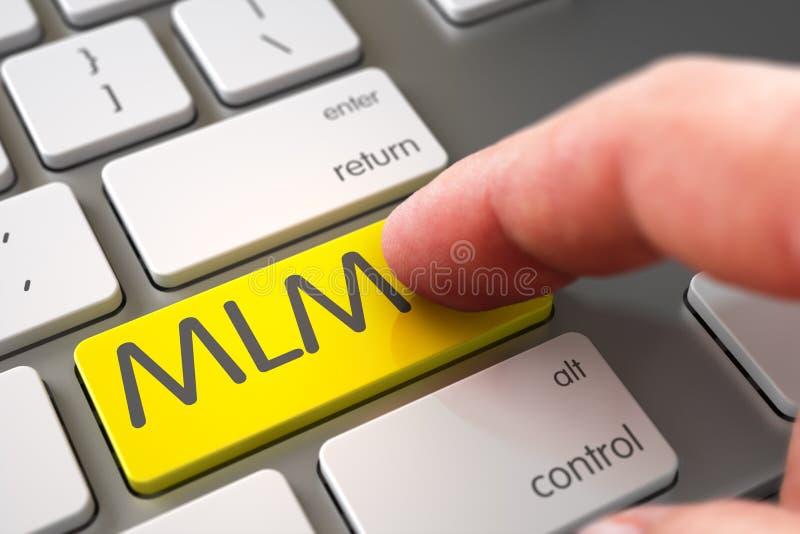 MLM - Концепция клавиши на клавиатуре 3d стоковая фотография rf