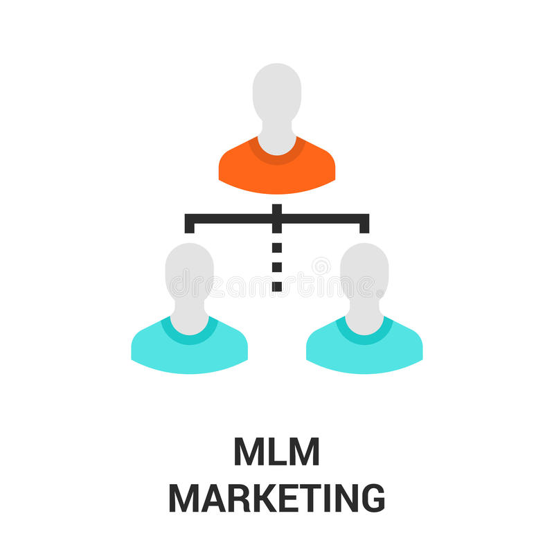 Mlm-Marketing-Ikone vektor abbildung