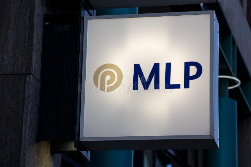 Mlp подписывает внутри кёльн Германию стоковые изображения rf