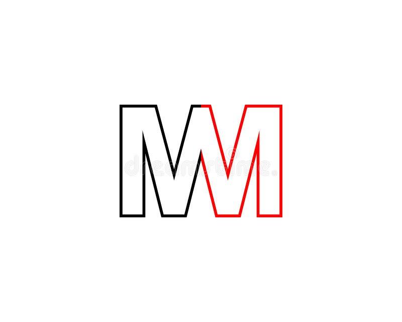 Mm信件商标 向量例证