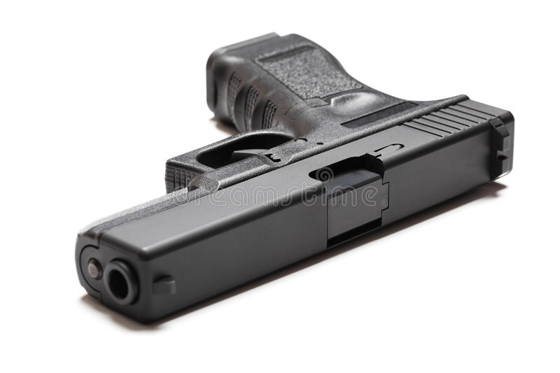 9mm半自动手枪 库存图片