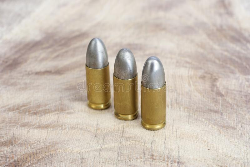 9mm口径弹药筒 库存照片