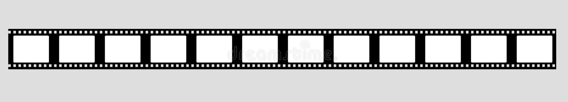 35 mm影片小条传染媒介 向量例证