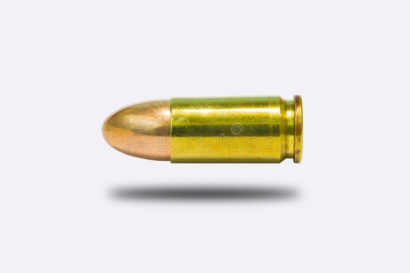 9mm изолят пули на белизне стоковые фото