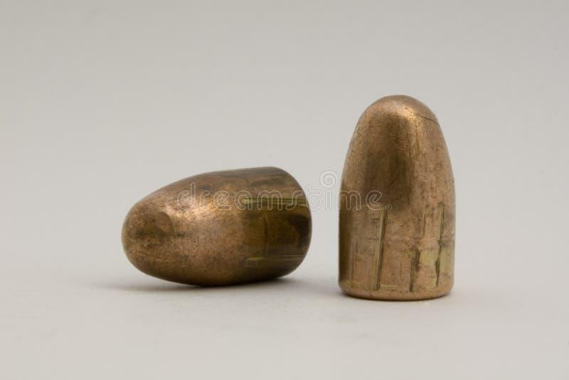 9mm увольнянные пули стоковое фото rf