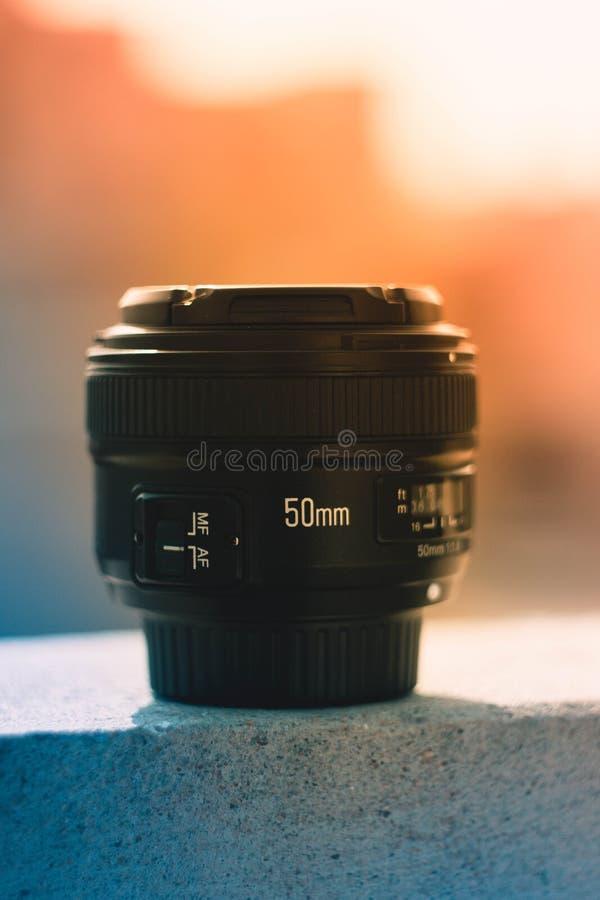 50 Mm Black Dslr Camera Lens stock photography