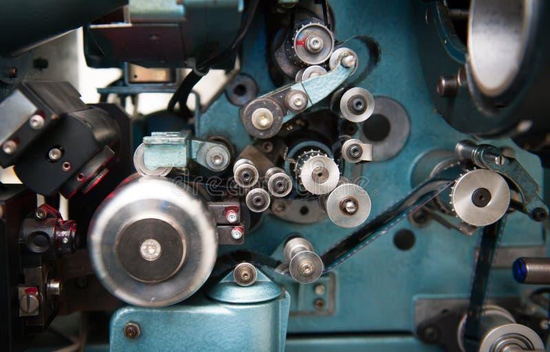 35 mm-de projectordetail van de filmbioskoop stock foto