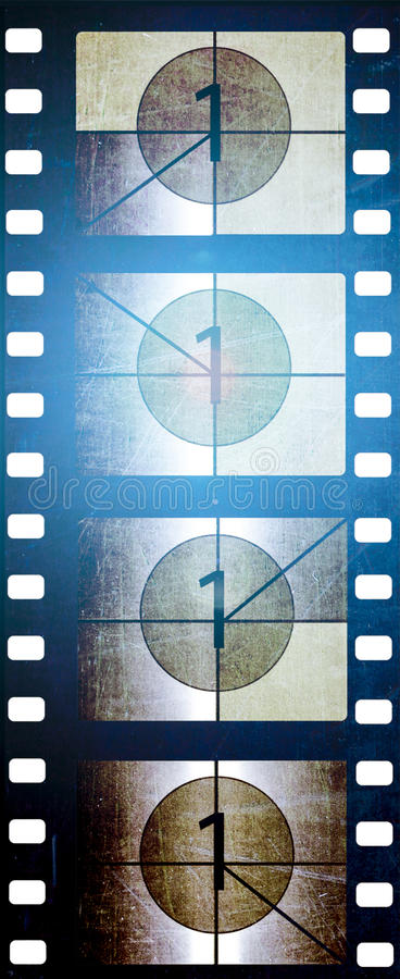 35 mm film with counter. And light royalty free stock photos