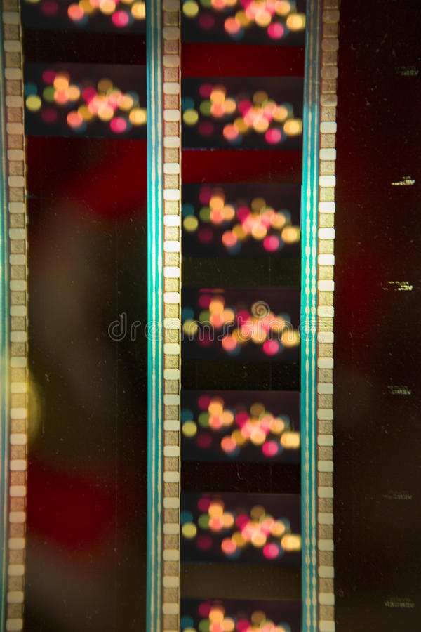 35 mm film. With light behind stock photos