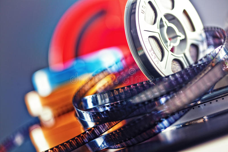 8mm film movie. Vintage 8mm film concept of movie industry stock images
