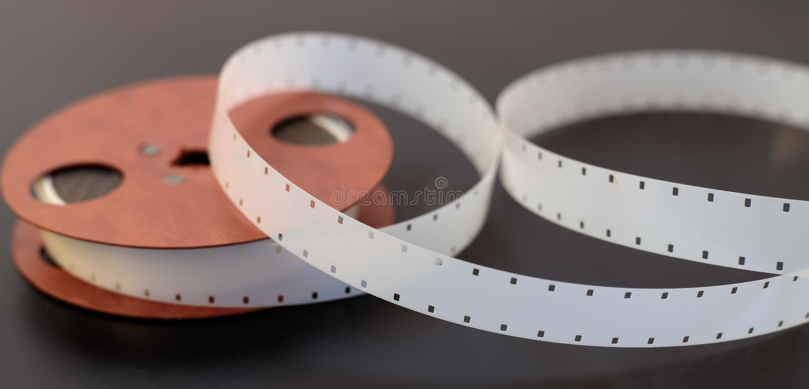 16mm film reel stock photography