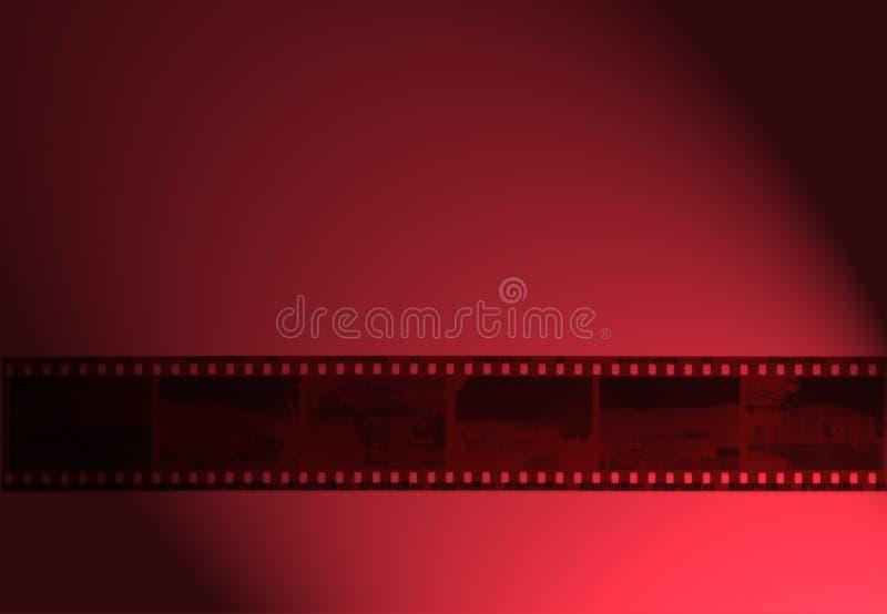 35mm filmfilm i rött ljusrött ljusrulle av filmen vektor illustrationer