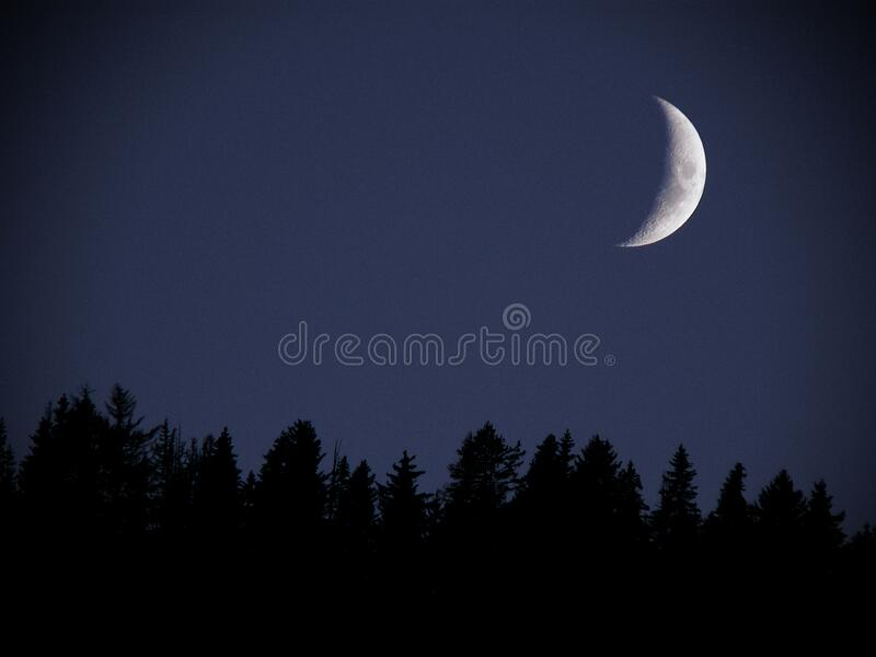 MM18A-0907 GIRO 02 26 AUS ASTRO MOON TEL FZ7 OP royalty free stock images