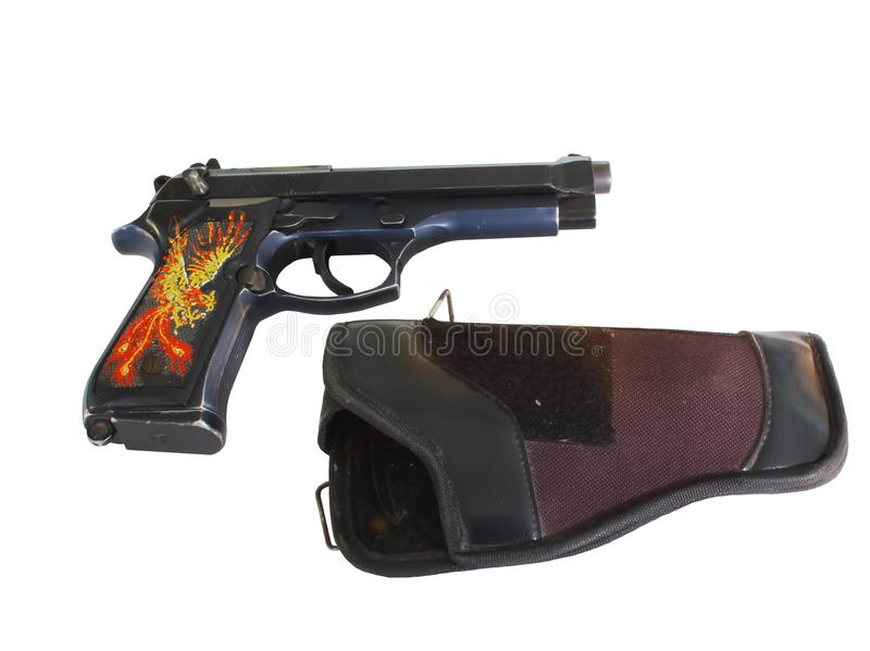 Download 9 mm gun stock photo. Image of single, security, colt - 34491966