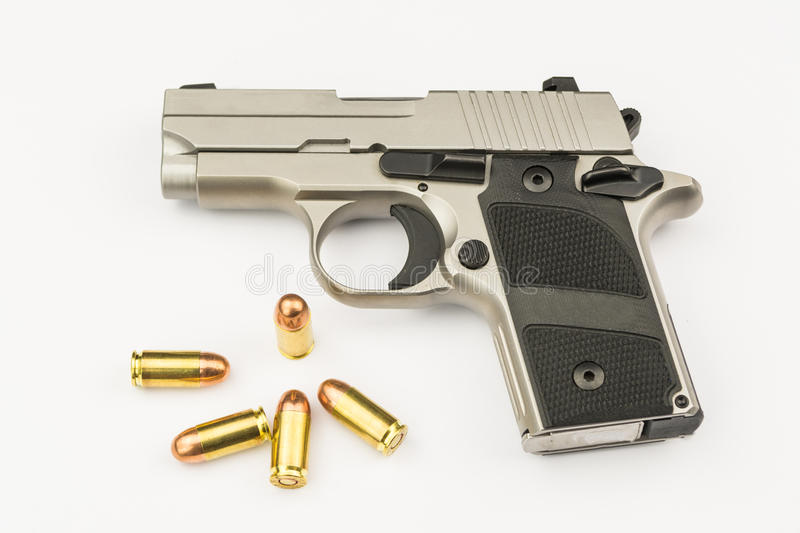 .380 mm hand gun stock photo