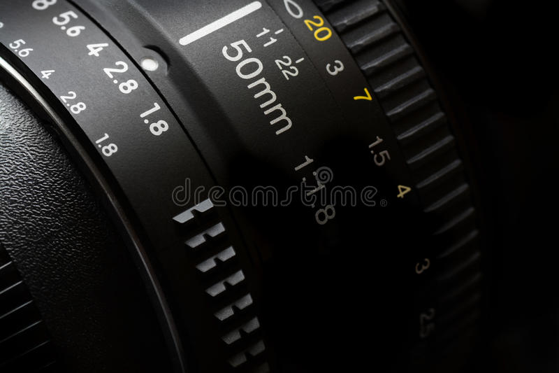 50mm kamery obiektyw dla fotografii wideo fotografia stock