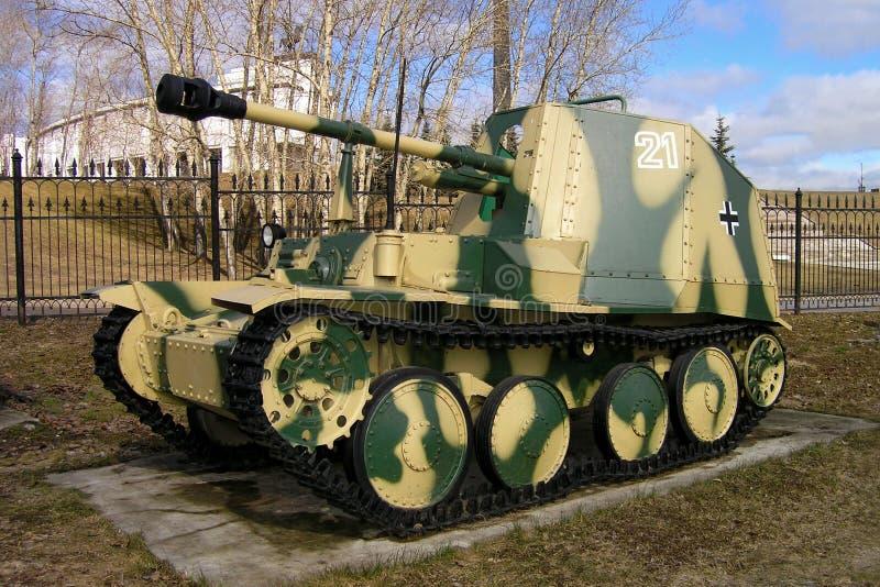 The 75 mm 38M Marder Self-Propelled Anti-Tank Gun Germany. MOSCOW, RUSSIA - The 75 mm 38M Marder Self-Propelled Anti-Tank Gun Germany on the Weaponry and stock photography