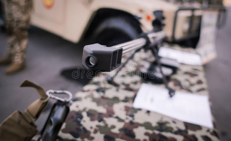 9mm machinegeweren op vertoning royalty-vrije stock fotografie