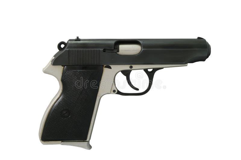 9mm pistolecik Odizolowywający Na bielu zdjęcie stock