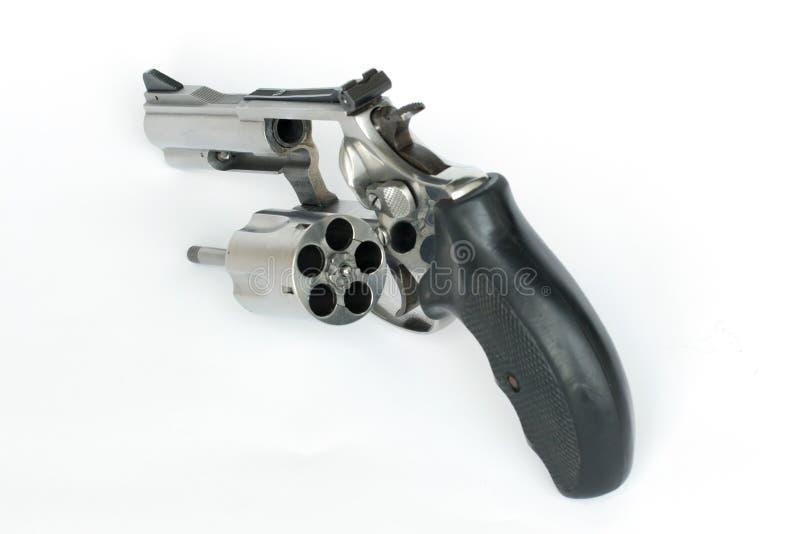 .38 mm. pistolet odizolowywa na białym tle fotografia royalty free