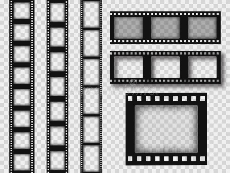 35mm retro filmremsa vektor illustrationer