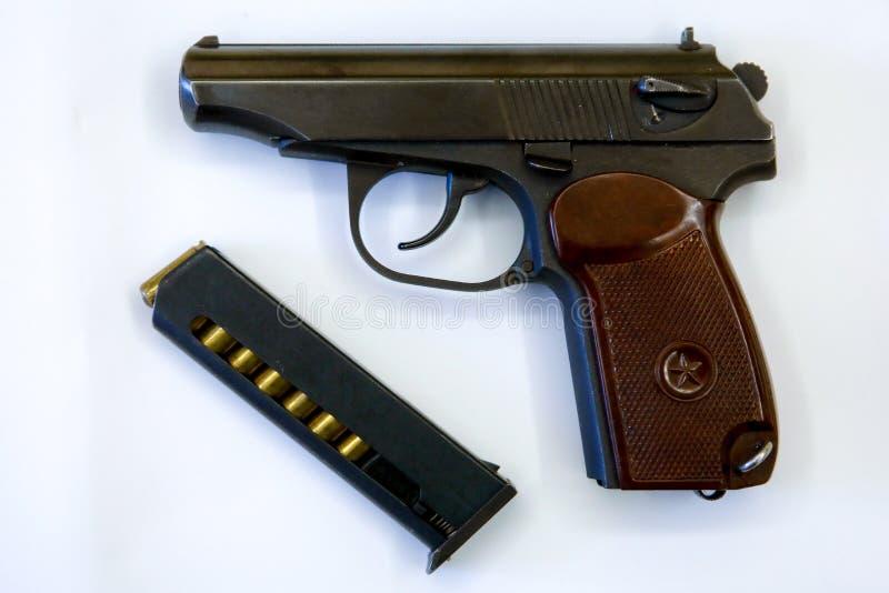 9mm self-loading PM van pistoolmakarov stock foto's