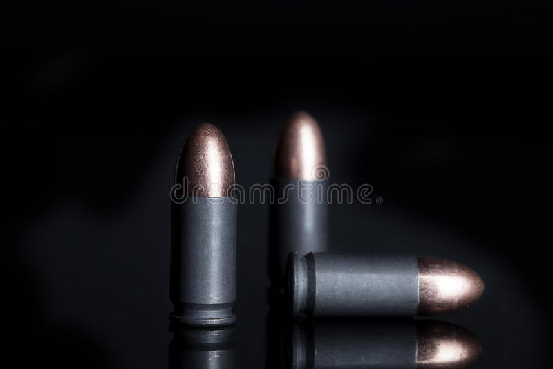 9mm stale Pakować amunicje obrazy stock