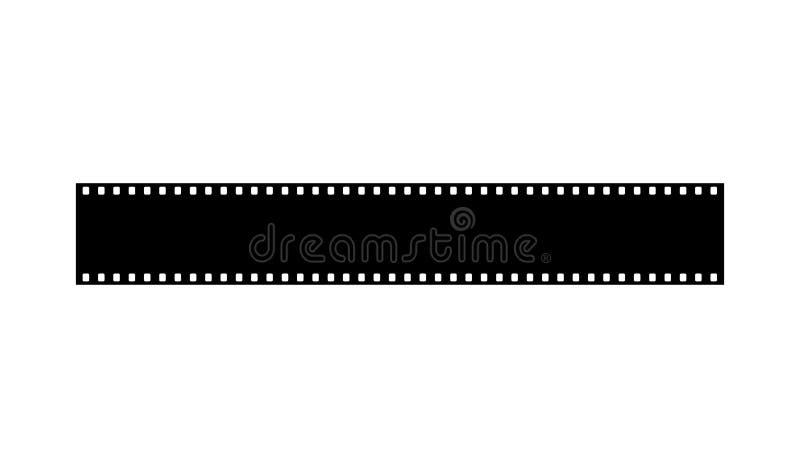 35 mm verbieden de strook van de fotofilm royalty-vrije illustratie