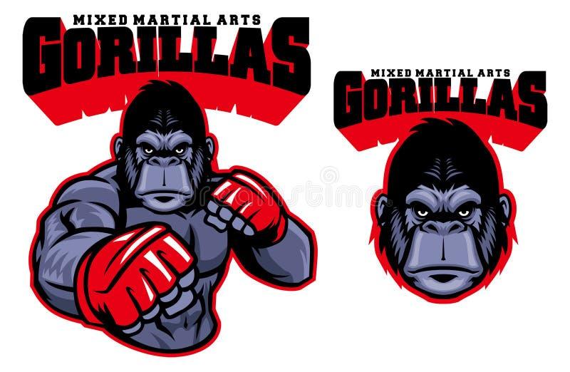 MMA fighter gorilla royalty free illustration