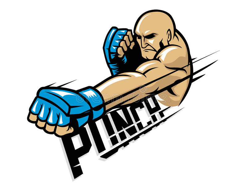 Mma fighter punch. Vector of mma fighter punch vector illustration