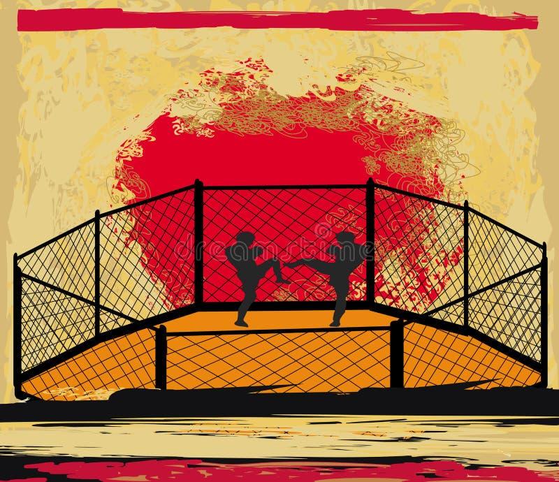 MMA rywalizacje ilustracji