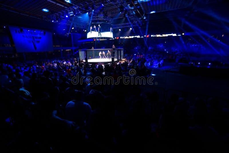 MMA-strijdturnament stock afbeelding