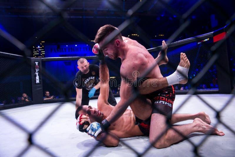 MMA-strijdturnament royalty-vrije stock fotografie