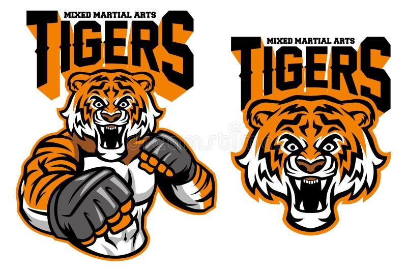 MMA wojownika tygrys ilustracji
