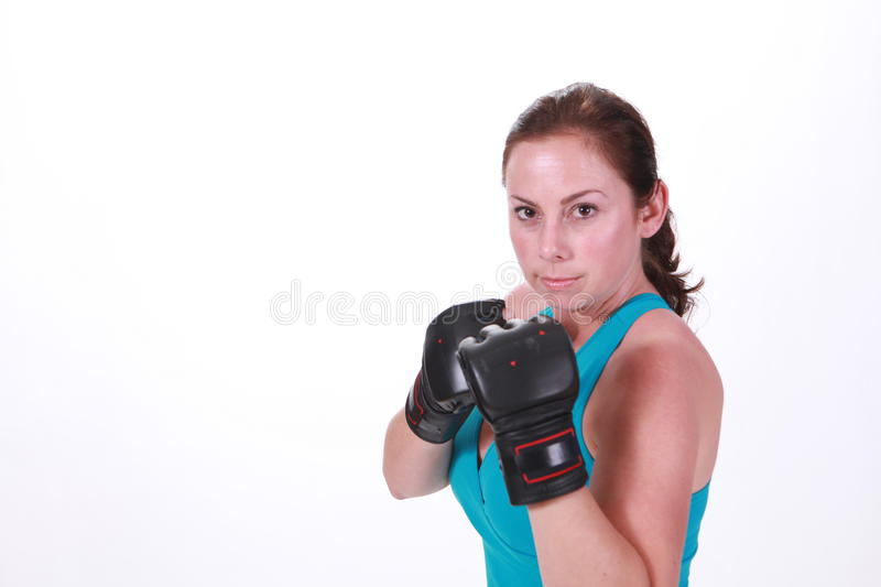 Download MMA Woman stock image. Image of thai, brunette, fist - 14854007