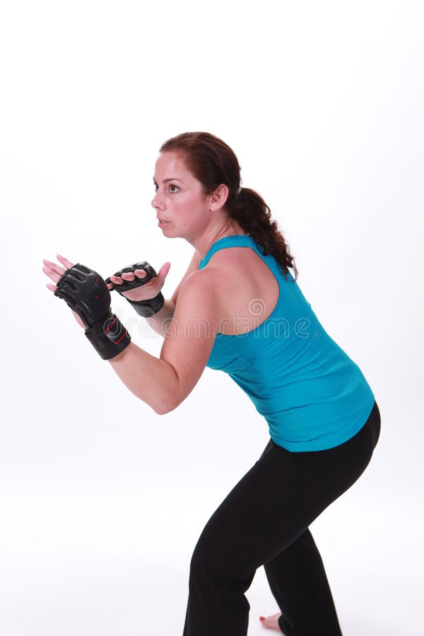 Download MMA Woman stock photo. Image of martial, caucasian, brunette - 14854054