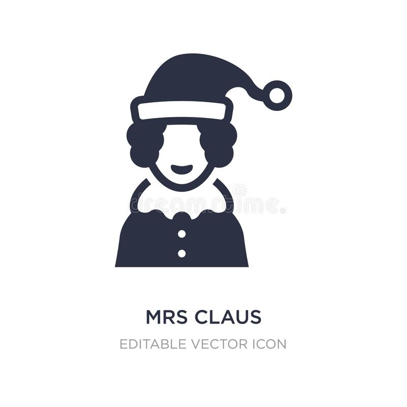 Mme Claus icon sur le fond blanc Illustration simple d'élément de concept de Noël illustration libre de droits